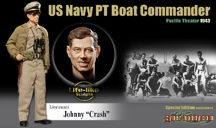 Cyber Hobby Johnny Crash US Navy PT Boat Commander