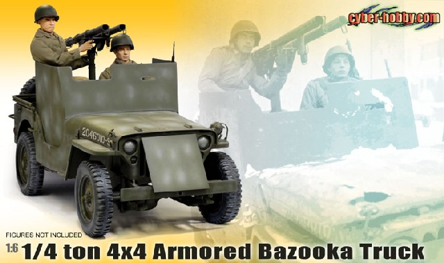 US 1/4 Ton 4x4 Armored Bazooka Truck 1/6th scale