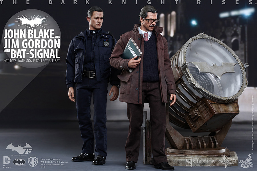 Hot Toys Bat Signal Jim Gordon John Blake Trio Set 1/6th Figure