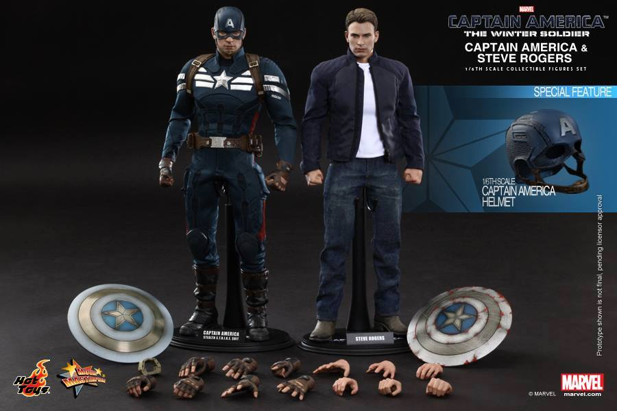 Hot Toys Captain America Steve Rogers twin pack 1/6th Figure