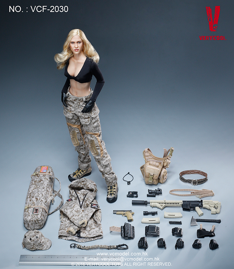 MAX Digital Camouflage Woman Soldier VCF 2030